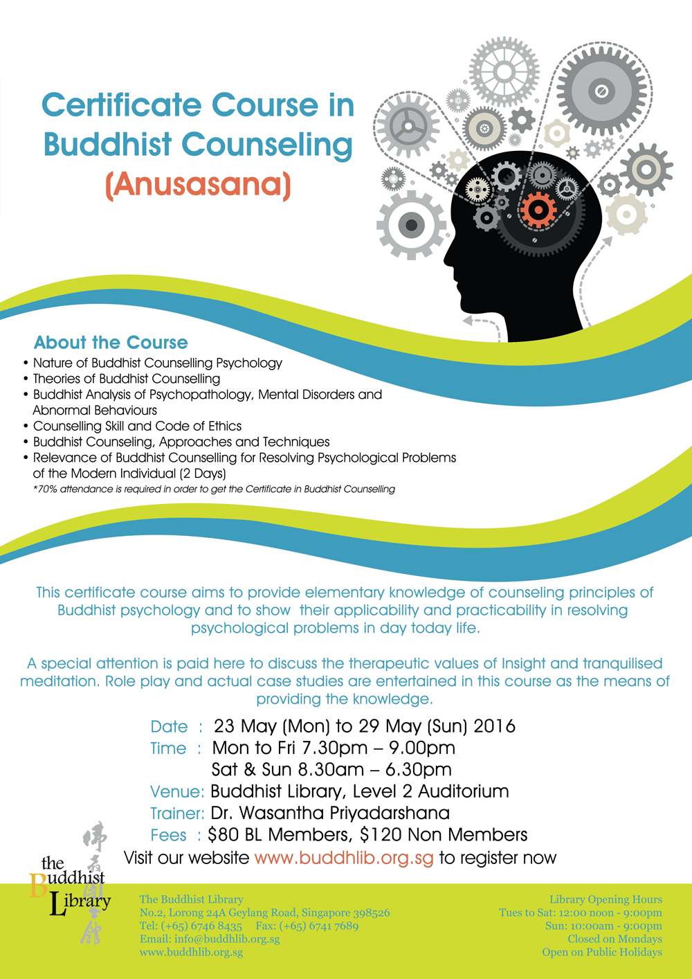 Past Event – Certificate Course in Buddhist Counselling (Anusasana ...