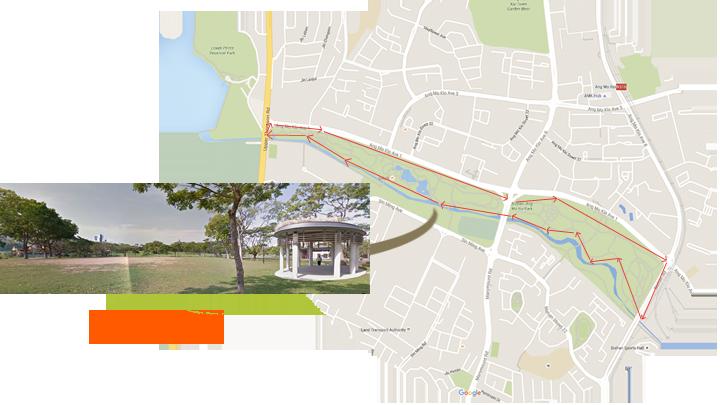Bodhi Walk Location Map