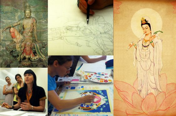 Guan Yin Drawing and Painting