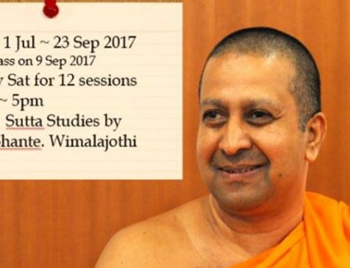 Past Event – Sutta Studies with Bhante. Wimalajothi