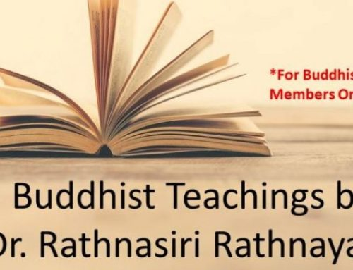 Past Event – Buddhist Teachings by Dr. Rathnasiri Rathnayaka